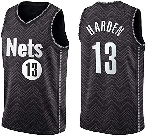 WSWZ Camisetas De La NBA para Hombre Brooklyn Nets 13# James Harden Camiseta De Baloncesto De La NBA - Chalecos Cómodos Casuales Tops Deportivos Camisetas Sin Mangas,A,XXL(185~190CM/95~110KG)