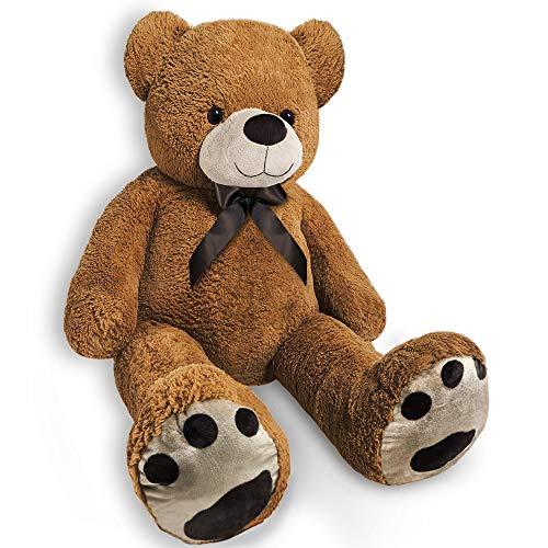Monzana Riesen Teddybär | Größe L 100cm | Teddy Kuscheltier Stofftier Plüschbär Plüschtier Teddi