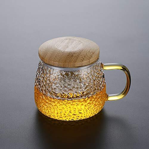 Cosmouk La manija de la correa de cristal de 400 ml es muy adecuada para la taza de café Taza de la leche del desayuno de la taza de té de la taza de té de la taza de té de la taza de té de la taza de