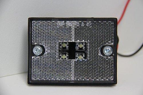 K-Lite LED サイドマーカー クリア 車幅灯 前方灯 反射板 白色