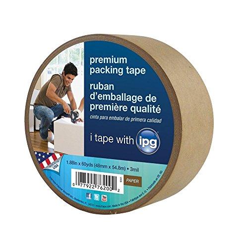 Intertape 9341 Kraft Paper Flatback Carton Sealing Tape, 1.88-Inch x 60-Yard (pack of 3)