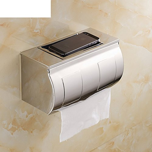 Roestvrij stalen legplank, toilet/bad plus scroll-box/toiletpapierhouder, waterdicht toiletpapier dienblad met asbak B