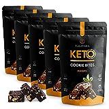 Tulipans Keto Cookie Bites Kakao im 5er Paket | Keto Kekse vegan, zuckerarm und glutenfrei | 80% weniger Kohlenhydrate als herkömmliche Kekse | Low Carb Kekse für vegane und ketogene Ernährung