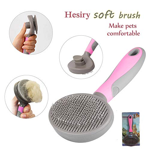 Hesiry Cat Brush Pet Soft Brush for Shedding Removes Loose Undercoat,Slicker Brush