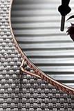 FineBuy Couchtisch FB45659 Glas ø 82 cm Metall Wohnzimmertisch Modern   Glastisch Rund Sofatisch Wohnzimmer Schwarz   Moderner Coffee Table mit Glasplatte   Kleiner Runder Design Kaffeetisch - 7