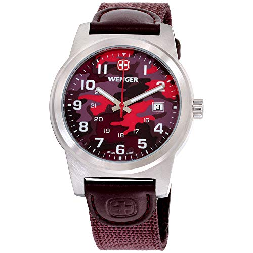 Wenger Field Classic Multicolored Dial Nylon Strap Men's Watch 01.0441.110
