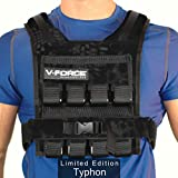 V-Force 40 Lb Basketball Weight Vest - Ultra Slim for Overhead Movement - Made in USA (Typhon)