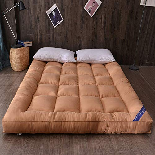 Anzkzo Futon Mattress Sleeping Quilting Soft Anti-bacterial Tatami mattress Floor mat Thicken Anti-skidding Student Dormitory Single Double-180x200cm B.