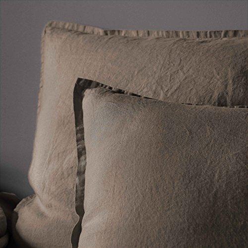 BLANC CERISE Taie d'oreiller en Lin lavé 65X65 cm