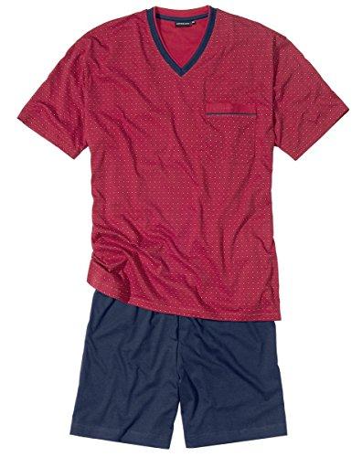 Götzburg Herren 451456-4008 Zweiteiliger Schlafanzug, Rot, Large (Herstellergröße: 52)