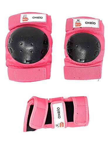 -Monopatín infantil Patines en línea patines en línea orejeras en 3tamaños S XS y XXS, color Rosa, tamaño extra-small