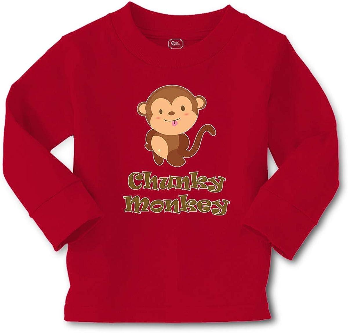 Kids Long Sleeve T Shirt Chunky Monkey Animals Zoo Cotton Boy & Girl Clothes