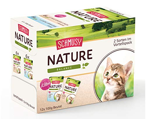 Schmusy Nature Kitten Multi Box, Confezione da (4 X 1.2 kg)