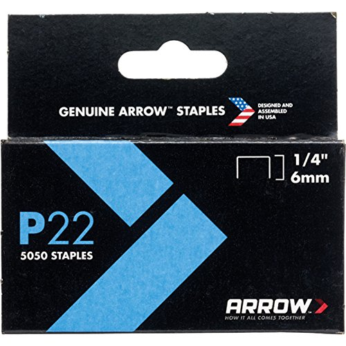 Arrow Fastener 224 5 Pack 1/4in. P22 Plier Type Staples 5050/Box