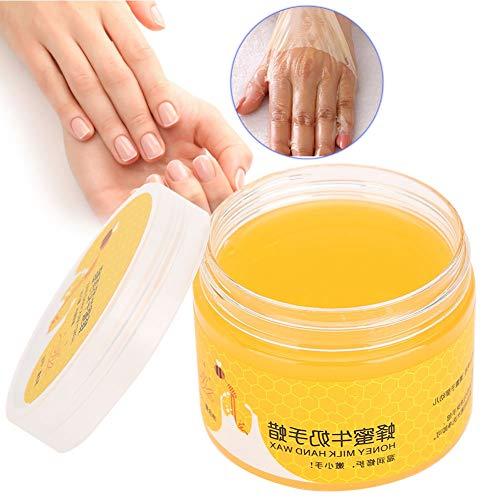 Masque pour les mains, masque pour les mains au lait de miel, blanchissant et hydratant, rides et blanchiment, soulage la sécheresse des mains, hydrate profondément la peau
