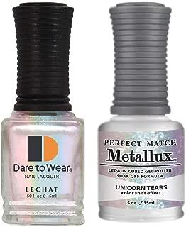 Lechat Perfect Match Gel Polish + Nail Polish Metallux Collection MLMS07 Unicorn Tears