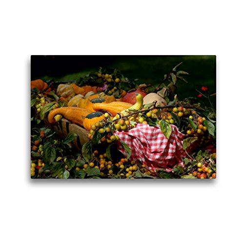 CALVENDO Premium Textil-Leinwand 45 x 30 cm Quer-Format Frisches Obst und Gemüse, Leinwanddruck von SchnelleWelten