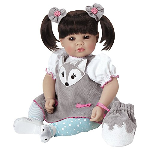 """Adora Toddler """"Silver Fox"""" Doll 20"""" Girl Weighted Doll Gift Set for Children 6 Huggable Vinyl Cuddly Snuggle Soft Body Toy"""