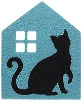 アルタ 黒猫 フェルト コースター ハウス BL 041467