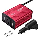 Maxpart 150W Power Inverter for Car 12V DC to 110V AC Converter with AC Outlets Dual 2.4A USB and 12V Car Cigarette Lighter...