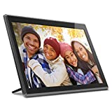 Aluratek 17.3' WiFi Digital Photo Frame with Touchscreen IPS LCD Display & 16GB Built-in Memory, Photo/Music/Video (AWS17F), Black