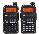 BFTECH BF-F8RT (BF-F8+ 3rd Gen) 8-Watt Dual Band Two-Way Radio (136-174Mhz VHF/400-520Mhz UHF) with High Gain NA-772R Stretchable Antenna(2-pcs)