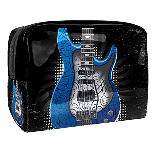Bolso de Cosméticos Guitarra Eléctrica Azul Neceser de Viaje para Mujer y...