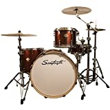 Sawtooth Command Series 4-Piece Shell Pack with 24' Bass Drum, Red Streak, (ST-COM-4PC-24-RS)