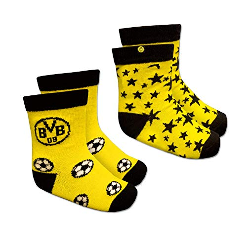 Borussia Dortmund, BVB-Kleinkindersocken (2er-Pack), Gelb, 19-21