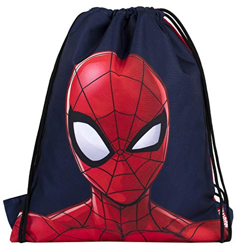 Marvel Comics - Sakky Kids Spiderman Drawstring Bag - School Bag for Kids - Official Merchandise Gift for Boys