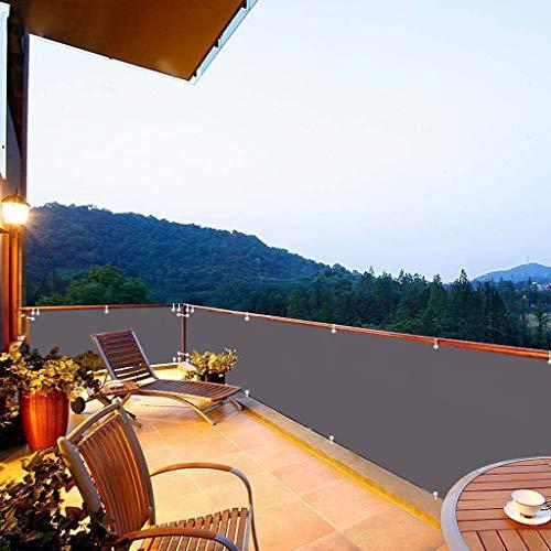 Paravento per Balconi 50x300cm Windschutz Sonnenschutz Balkonumspannung mit Ösen Nylon Kabelbinder Kordel für Gartenanlagen Camping Freizeit Anthrazit