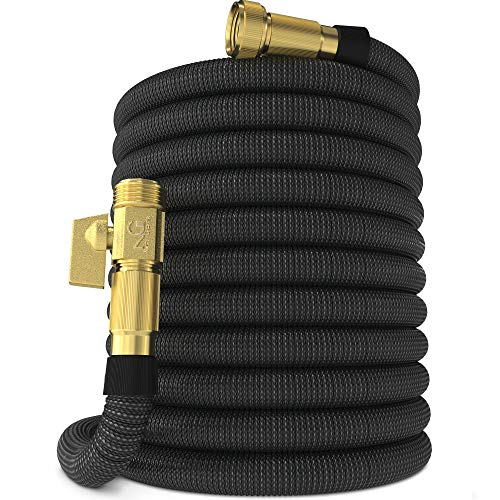 Nifty Grower 100ft Garden Hose - New Expandable Water Hose with Double Latex Core 3/4' Solid Brass...