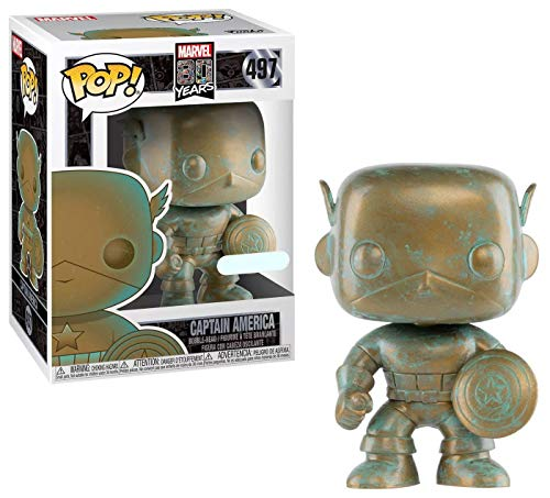 Funko POP! Marvel 80th Anniversary - Captain America [Patina] # 497 - Target Exclusive