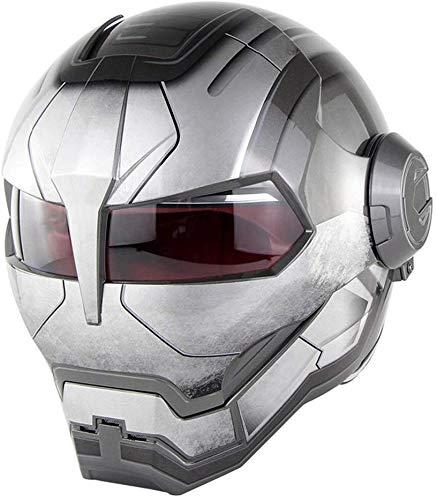 LKCAK DOT-zertifizierter Retro-Motorradhelm mit Schutzbrillenpersönlichkeit Vintage Motorradhalbhelm Elektroroller-Schutzhelm