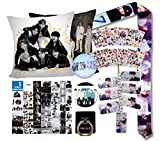 Fans Gift Set - Including 1Pcs Double-Sided Printed Throw Pillow Case, Lomo Card, Stickers, Badge Pins, Lanyard, Phone Holder Ring, Key Chain