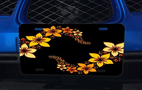 Flower Flowers Floral Tropical in Black Max 63% OFF Limited time for free shipping Dark Aluminum the Licens