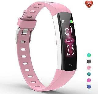 YoYoFit Slim Kids Fitness Tracker Heart Rate Monitor Watch, Kids Activity Tracker Waterproof Pedometer Watch for Kids, Kids Alarm Clock Step Calorie Sleep Tracker as Best Fitness Gift