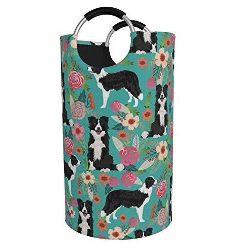Sunmuchen Cesta de lavandería para perros, impermeable, grande, para ropa, juguetes, dormitorio, baño, con asas de aluminio