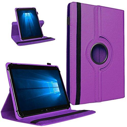 UC-Express Tablet Tasche 360° Drehbar Vodafone Tab Prime 7 Hülle Schutzhülle Universal Hülle Cover, Farben:Lila
