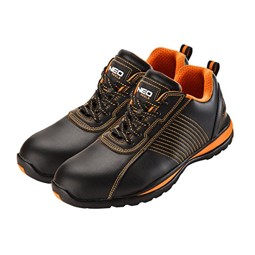 Werkschoenen leer SB SRA veiligheidsschoenen halve schoenen sportief stalen kappen zwart 39-47 43 EU