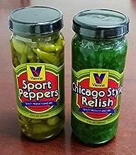Vienna Chicago Style Relish (12 oz) and Vienna Sport Pepper (12 oz) Bundle