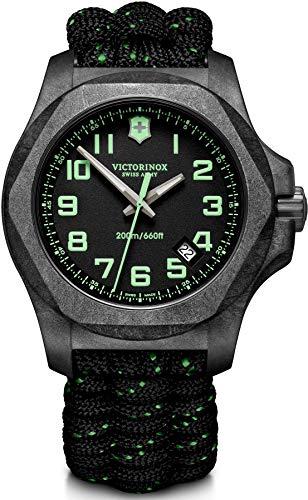 Victorinox Herren I.N.O.X. Carbon - Swiss Made Analog Quarz Carbon Stahl Uhr 241859