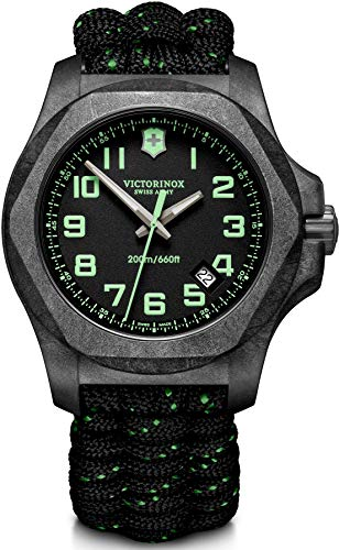 Victorinox Herren I.N.O.X. Carbon - Swiss Made Analog Quarz Carbon Stahl Uhr 241859