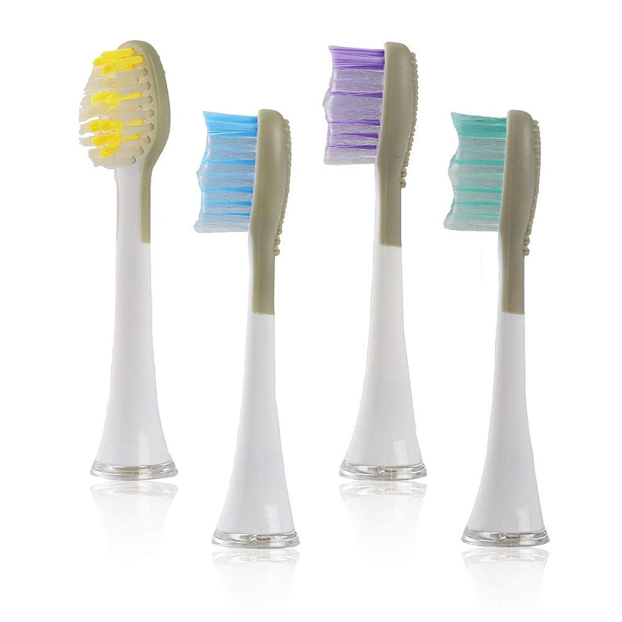 ミスペンド苦情文句によるとQurra(FitOne) 専用 替えブラシ 4個 0.15mm 舌クリーナー 付 電動歯ブラシ デュポン製 ナイロン毛 3R SYSTEMS ホワイト