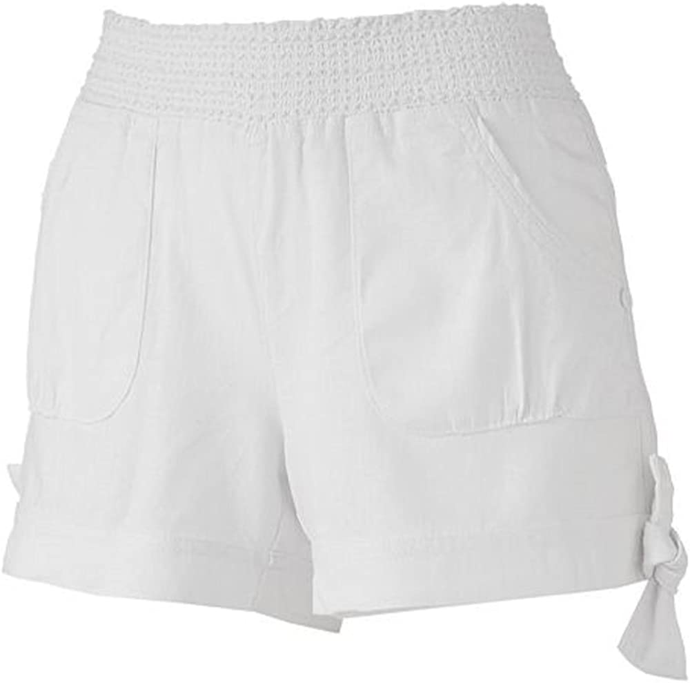 Candie's Juniors Chambray 67% OFF of fixed price Smocked Shortie Max 86% OFF 1 White Size Shorts