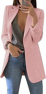 Akalnny Femme Blazer Manteau Laine Veste de Costume Revers