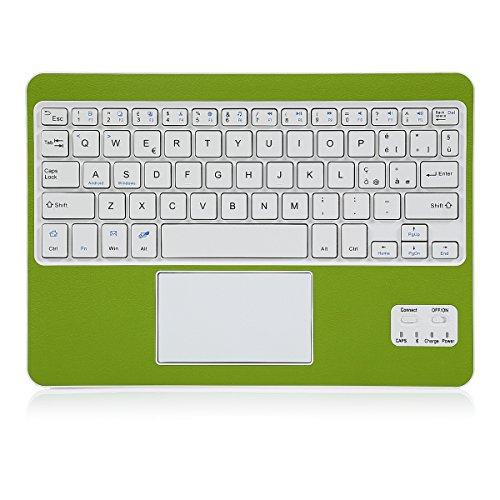 CoastaCloud? Tastiera Wireless Bluetooth 3.0 Tastiera Wireless per Portatile e Leggera con QWERTY Italiano Layout Tastiera e touchpad (Verde)