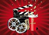 Invitations cinéma en Français: Paquet de 10 Cartes d'Invitation cinéma pour Un Prochain Anniversaire d'Enfant au cinéma des Editon Colibri (10716 FR)