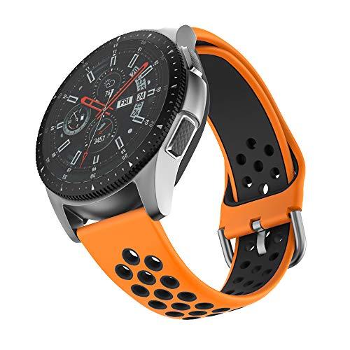 ISABAKE Correa de Reloj de 22 mm Compatible con Galaxy 46 mm, Gear S3 Frontier/Classic, Fossil Gen 5 / Men