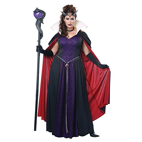 California Costumes Women's Plus-size Evil Storybook Queen - Adult Plus Women Costume Adult Costume, -black/purple/lavender, 3X-Large